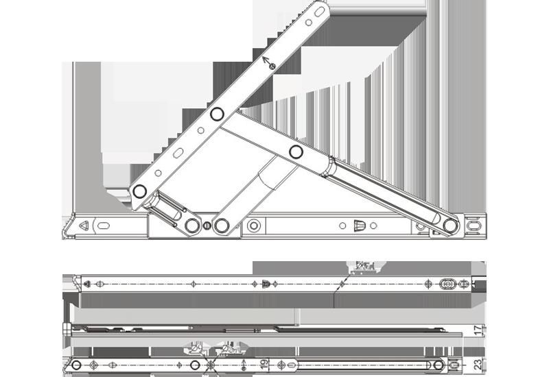 zs系列平开加重摩擦铰链(分左右)