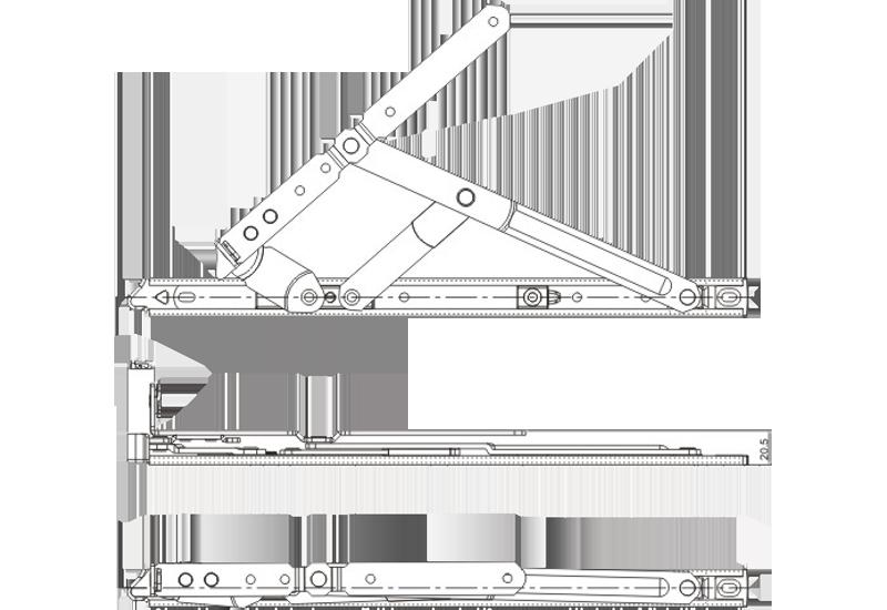 AS系列平开加重摩擦铰链(分左右)