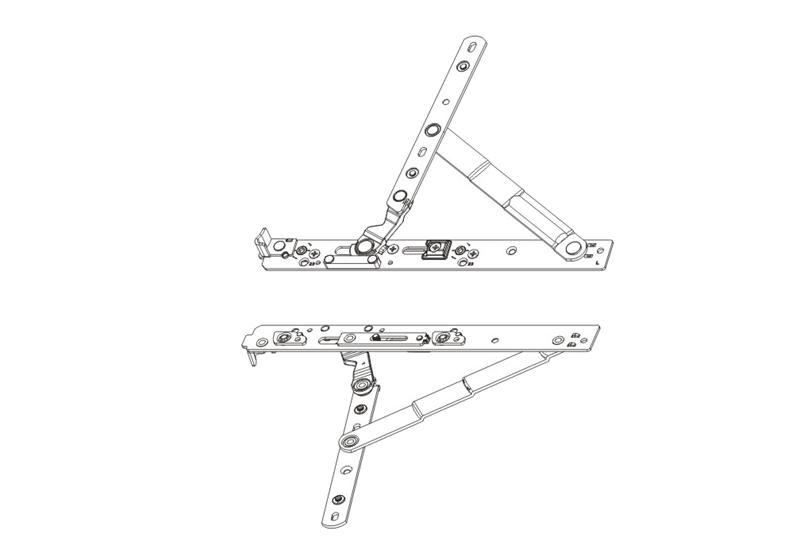 平开加重防坠铰链 OKS 65-08-L/R
