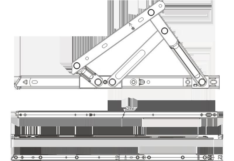 zs系列上悬加重摩擦铰链(分左右)