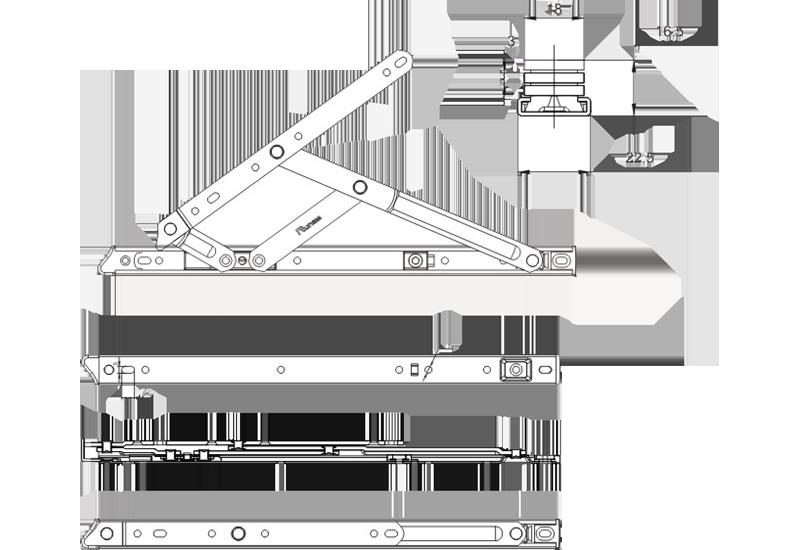 55系列平开加重摩擦铰链(分左右)